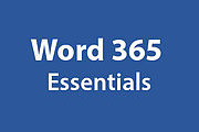 Certificate In Word 365 Essentials Online Course