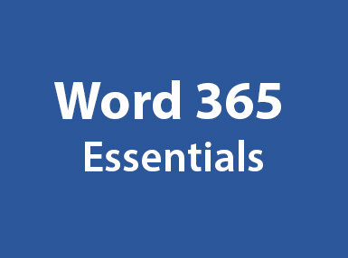 Word 365 Essentials Online Certificate Course