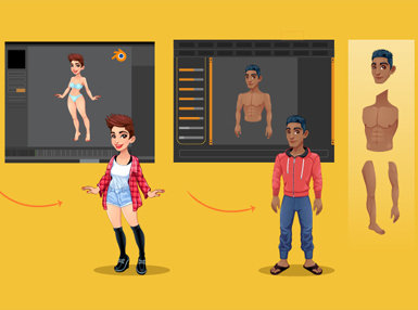 Make 3D Characters Easily with MakeHuman and Blender3D Online Certificate Course